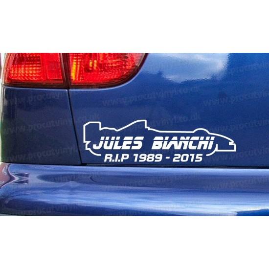 Jules Bianchi RIP Memorial Tribute Car Window Bumper Sticker Decal ref:1