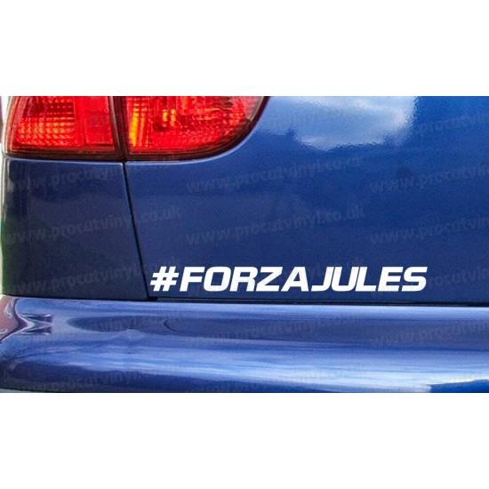#FORZA Jules Bianchi RIP Memorial Tribute Car Window Bumper Sticker Decal ref:12