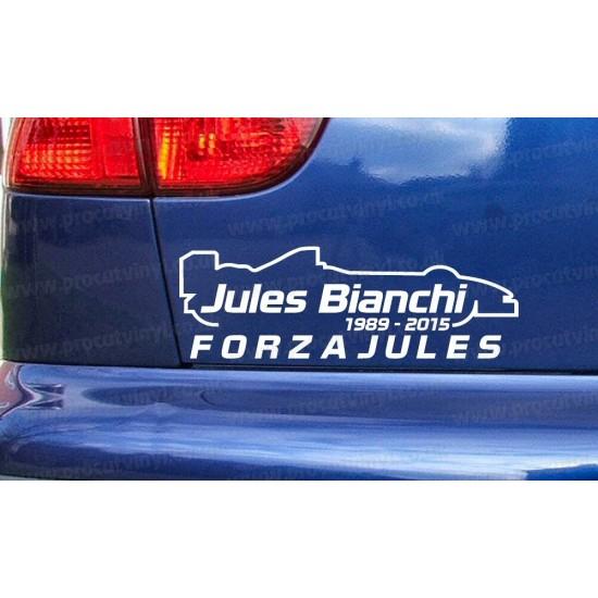 Jules Bianchi FORZA RIP Memorial Tribute Car Window Bumper Sticker Decal ref:2