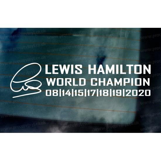 Lewis Hamilton 2020 7 Times World Champion Car Window Bumper Sticker Decal d3