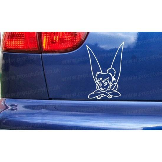 Tinkerbell Fairy Novelty Funny Car Bumper Window Sticker Decal ref:2