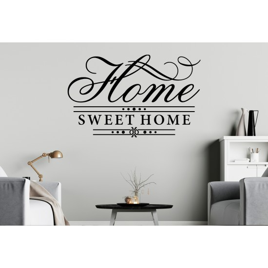 Home Sweet Home Custom Sizes Small to Large Quotes Phrases Bedroom Kitchen Living Room Lounge DIY Wall Art Decorative Decoration Decor Vinyl Die Cut Sticker Decal ref:020