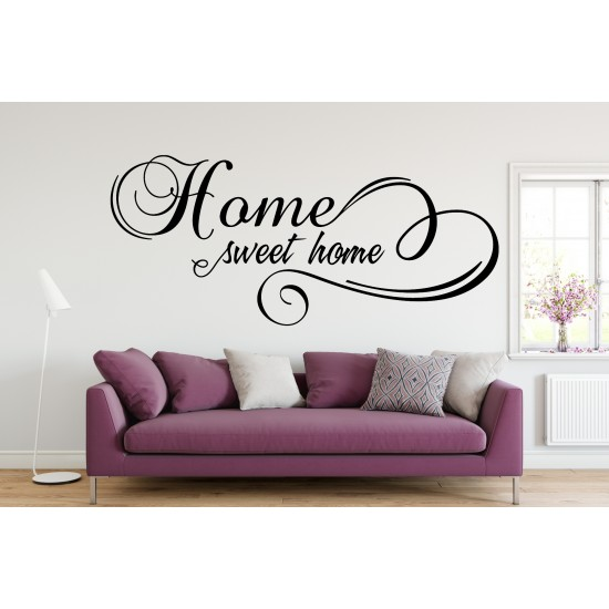 Home Sweet Home Custom Sizes Small to Large Quotes Phrases Living Room Lounge Kitchen DIY Wall Art Decorative Decoration Decor Vinyl Die Cut Sticker Decal ref:023
