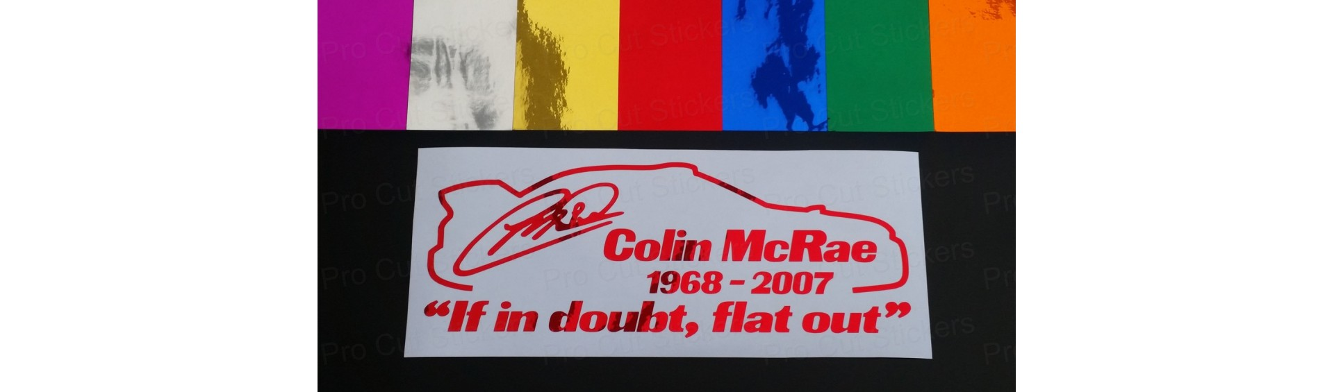 Tribute Rally Stickers