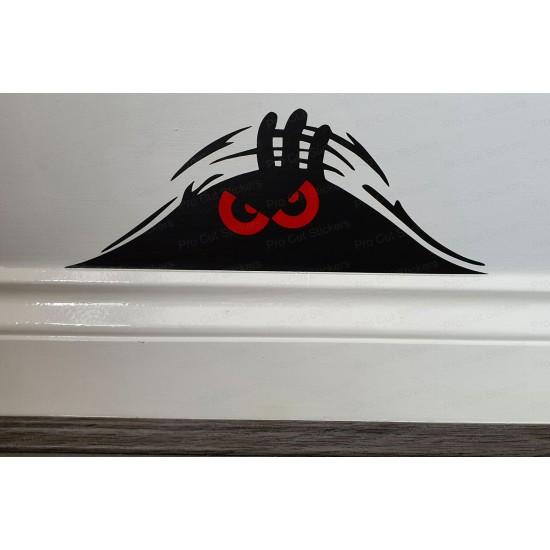 Funny Peeping Evil Monster Wall Car Bumper Sticker Decal ref:6