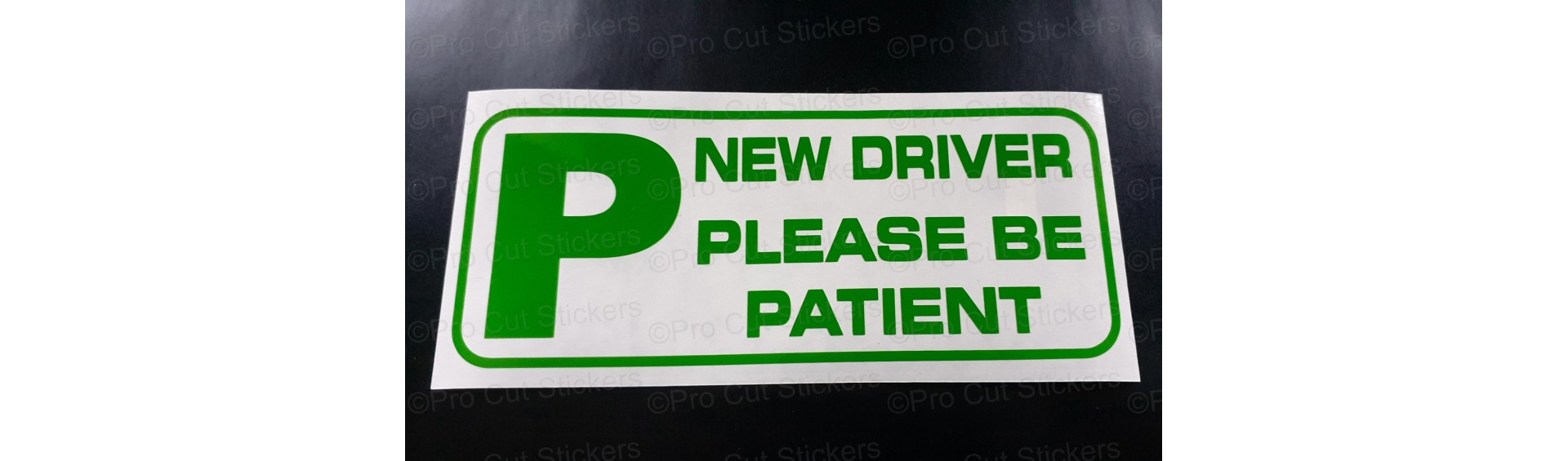 New Driver Stickers