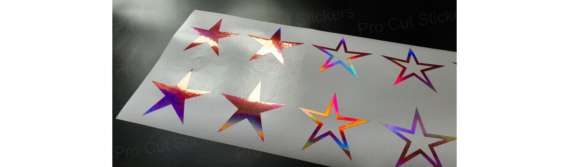 Stars & Paint Splat Stickers